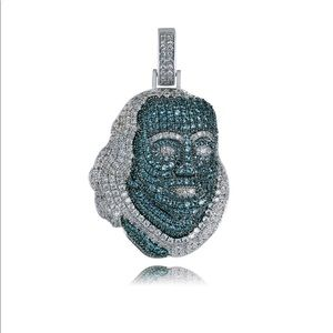 Iced out Chain Necklace Benjamin Franklin